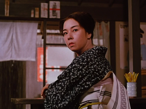 Machiko Kyo does a fine job of looking mental.