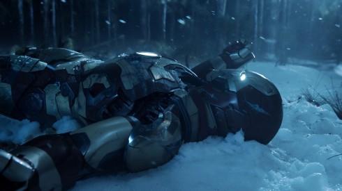 Iron Man can make badass snow angels.