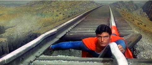 We shall ignore the physical impossibility of this scene as 5 minutes from now Superman turns back time by spinning the Earth backwards.
