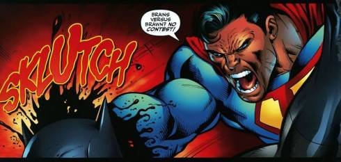 How Superman Vs Batman fights go when the writers are clutching at straws.