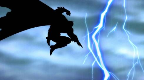 Nice iconic Batman image recreated in the film.