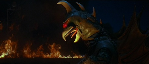 Really liked this shot. Gigan looks fearsome.
