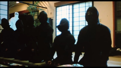 One of the The Three Ninja Kids got in here I think.