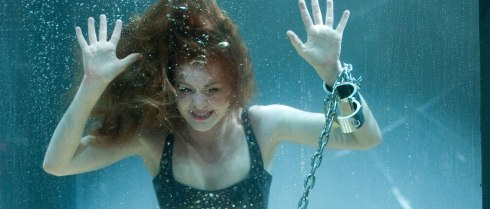 Isla Fisher almost drowned during this scene. Not sure I would have forgiven them for that.