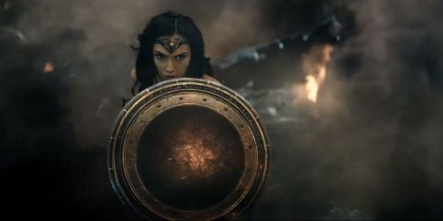 She ain't big enough to be Wonder Woman but she does the role well... for the 5 minutes we see her.